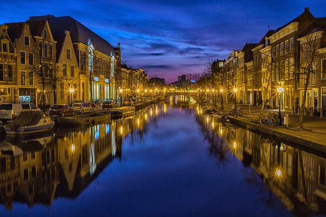 City, Night, Waterway, Channel - Free image - 114290